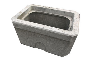 Brooks Products 26-3/4 in. Concrete Meter Box Body Only B65MBB