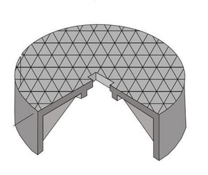 Brooks Products 8-1/2 in. Round Cast Iron Gas Cover Only B1RTCOVERGAS