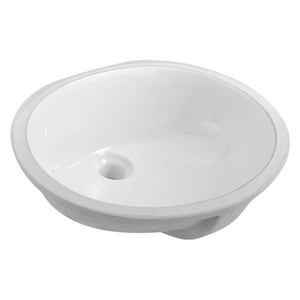 Compass Manufacturing International Under-Counter Oval Lavatory Sink in White C5610409