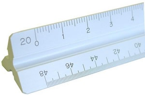 Florida Level & Transit 12 in. Plastic Engineering Scale Ruler FPAC92121