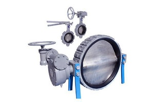Fresno Valves & Castings 8500 Series 6 in. Cast Iron Buna-N Seat Gear Operator Handle Wafer Butterfly Valve FF08506005