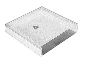 Fiat Products 39 x 39 in. Terrazzo Shower Floor with Threshold in White FWTR4995100