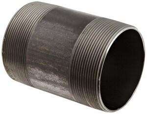 3 x 2-3/4 in. Black Schedule 40S Carbon Steel Threaded on End Nipple BNTOERCM234