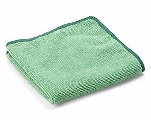 Unisan 12 x 12 in. Microfiber Cleaning Cloth in Green UNSGREENCLOTH