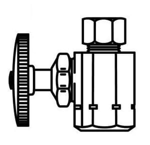 McGuire Manufacturing 1/2 in x 3/8 in Wheel Handle Straight Supply Stop Valve in Chrome Plated MLFST12