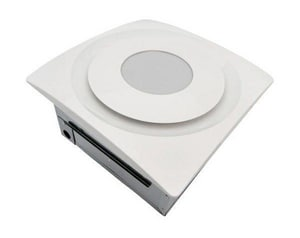 Aero Pure SL Series 120 cfm Slim Fit Bathroom Exhaust Fan with Light in White AAP120HSLW