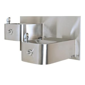 Haws Wall Mount Stainless Steel Outdoor Bottle Filling Station H1119FR1