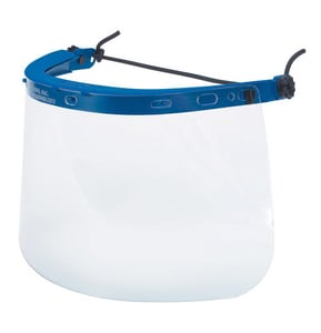 Crews Face Shield Bracket for Hard Hat in Blue CRE101
