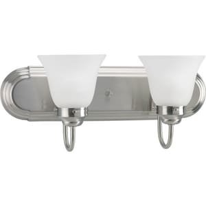 Homestyle Lighting 60W 2-Light Incandescent Wall Bracket in Brushed Nickel HHS21008