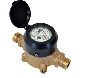 Zenner Model PPD 1-1/2 in. Flanged 100 gpm Brass Alloy and Polymer Cold Water, Displacement Magnetic Drive Meter with Wall Pad - Cubic Foot ZPPD08CFSEPPBWM at Pollardwater
