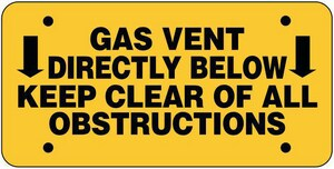 Raven Products 7 in. Plastic Gas Vent Warning Sign RSIGNPLASTIC
