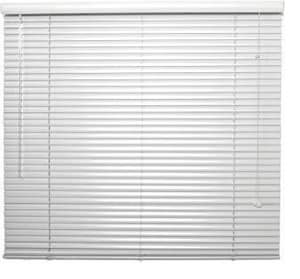 Lotus & Windoware 36 x 108 in. 1 in. Aluminum Mini Blind in White LAM36108WH