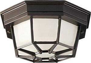 Homestyle Lighting 1-Light Incandescent Flushmount Light in Bronze HHS71010