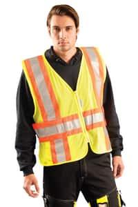 Occunomix XL-Size/XXL 2-Tone Classic Mesh Safety Vest in Yellow OLUXSC2TZXL2XL