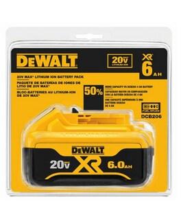 DEWALT Max 20V 6A Premium Lithium Ion Battery Pack DDCB206