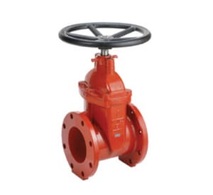Clow Valve F-6102 Series 3 in. Flanged Ductile Iron Open Left Resilient Wedge Gate Valve CF6102MOLHW