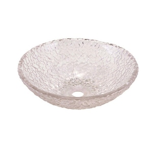 Oceana Pebble Self-rimming/Drop-in Bathroom Sink in Crystal O005303