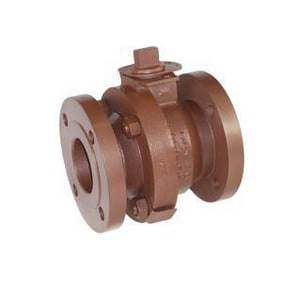 Balon Corporation F Series 4 in. Ductile Iron Full Port Flanged 150# Ball Valve B4FF12RF