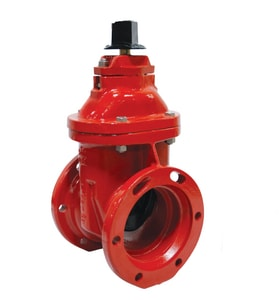 Clow Valve F-6113 Series 6 in. Flanged x Push On Ductile Iron Open Left Resilient Wedge Gate Valve CF6113LAUOL