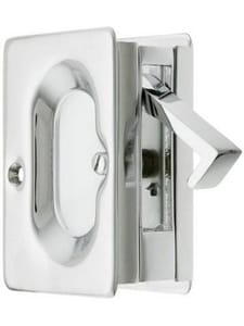 Emtek Products Pocket Door Lock in Polished Chrome E2101US26