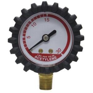 Uniweld Products 400 psi 1-1/2 in. Steel Repellent Welding Gauge in Red UG19D