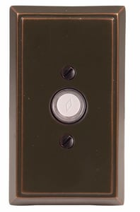Emtek Products Rectangular Rosette Doorbell Button in Oil Rubbed Bronze E2403US10B
