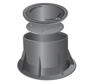 Castings 16-3/8 in. Cast Iron Meter Pit Cover CCI7016OSTAP