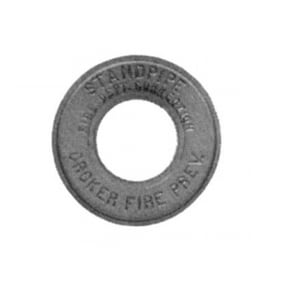 Fire-End & Croker 4 in. Brass Round Escutcheon Plate F6760T