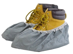 Shu-Bee's Armordillo™ Plastic Shoe Cover in Grey SCSBSCARMC