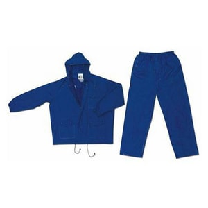 Blue Rainsuit With Hood 2 Piece Double Extra Large R7032X2