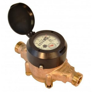 Zenner Model PMN 1-1/2 in. Flanged 100 gpm Brass Alloy and Polymer Cold Water, Magnetic Drive Meter with VL-9 Encoded Remote Totalizer - US Gallons ZPMN09USEPPBV9M at Pollardwater