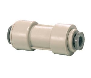 John Guest USA Speedfit® 1/2 x 3/8 in. OD Tube Reducing Plastic and Acetal Copolymer Bulkhead Union Connector in Grey JPI201612S