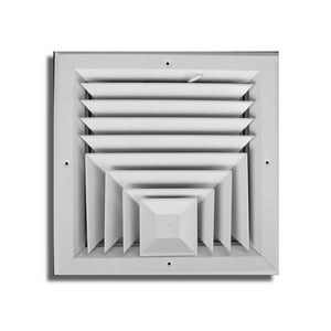 T.A. Industries Residential 10 x 10 in. Ceiling Diffuser in White Aluminum TA503M10X10