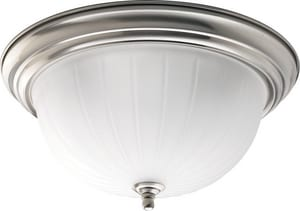 Homestyle Lighting 3-Light Flushmount in Brushed Nickel HHS31005
