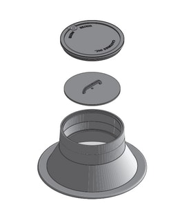 Castings 20 in. Aluminum Meter Dome and Cover CMH7020AL