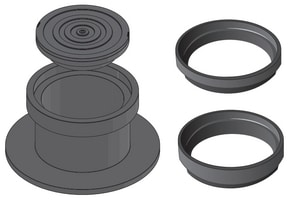 Castings 10-5/8 in. Cleanout Sanitary Ring and Cover for Sewer CCO8030CI