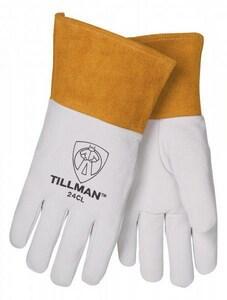 Tillman M Size Kidskin Leather and Kevlar Welding Glove in Pearl T24CM