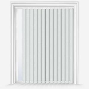 Lotus & Windoware 70 x 70 in. Curved Vertical Blind in White LVSSCWH