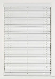 Lotus & Windoware 83 x 60 x 2 in. Faux Wood Horizontal Blind in White LFC8360WH