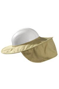 Occunomix Cotton Stow-Away Collapsible Hard Hat Shade in Khaki O899KHK