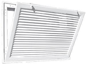 T.A. Industries Model 290 20 x 30 in. Bar Type Aluminum Return Filter in White T29020X30