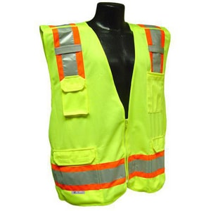 Radians M or L Size Polyester Class E Safety Pant in Hi-Viz Green RSP61EPGSML at Pollardwater