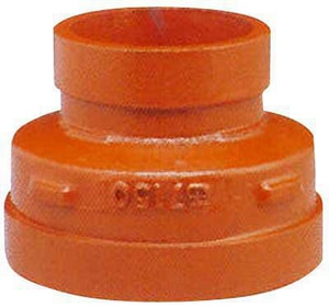 Gruvlok Fig 7072 3 x 2-1/2 in. Grooved Galvanized Ductile Iron Concentric Reducer GG7072ML