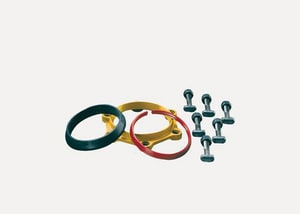 Romac Industries 8 in. Ductile Iron Grip Ring Accessory Pack RGRAPDIXBLUE