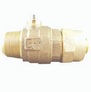 Cambridge Brass 4-1/20 x 3/4 x 3/4 in. CC x Kitec Cast Brass Corporation Stop C301NLA3K3