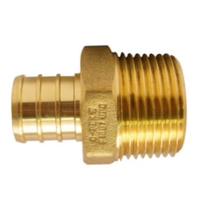 Campbell Manufacturing 1-1/4 in. Insert x MIP Yellow Brass Adapter CYBM5LF