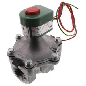 Asco Pneumatic Controls 8215 Series 120V Solenoid Valve 25 psi 7-47/100 in. Brass, Copper, Plastic, Rubber, Silver and Stainless Steel A8215B80CSA120VA