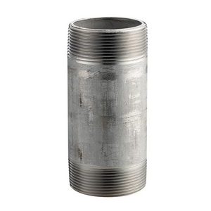 1 x 2-1/2 in. MNPT Schedule 40 304L Stainless Steel Threaded Both End Seamless Nipple DS44SNGL