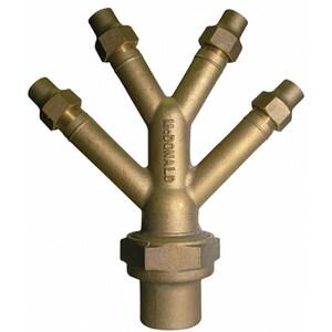 A.Y. McDonald 2 x 2 x 3/4 in. Flared Brass Wye M708Y4CCKF