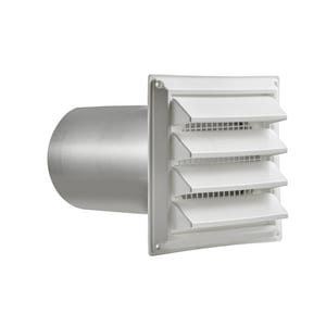 Dundas Jafine 6 in. Fixed Louvered Intake Hood in White DIH6WXZ